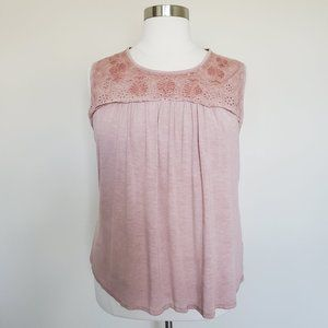 Knox Rose Pale Pink Sleeveless Top Plus Size XXL